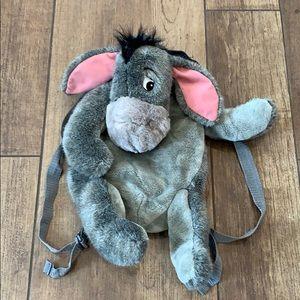 Walt Disney World Eeyore Backpack Gray Zip